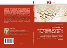Buchcover von DIFFÉRENCES INDIVIDUELLES COGNITIVES ET APPRENTISSAGE DES L2