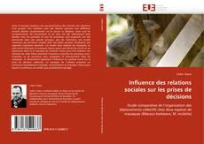 Buchcover von Influence des relations sociales sur les prises de décisions