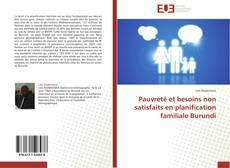 Capa do livro de Pauvreté et besoins non satisfaits en planification familiale Burundi