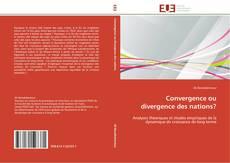 Convergence ou divergence des nations?的封面