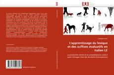 L''apprentissage du lexique et des suffixes évaluatifs en italien LE kitap kapağı