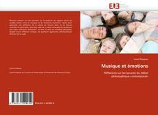 Bookcover of Musique et émotions