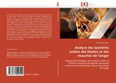 Capa do livro de Analyse des bactéries isolées des blattes et des mouches de Tanger