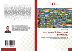Bookcover of Inversion of Critical Light Scattering.
