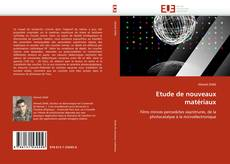 Buchcover von Etude de nouveaux matériaux