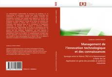 Couverture de Management de l'innovation technologique et des connaissances