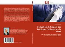 Capa do livro de Evaluation de l''impact des Politiques Publiques sur la santé