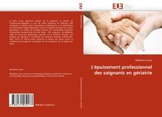 Buchcover von L''épuisement professionnel des soignants en gériatrie