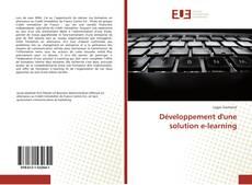 Обложка Développement d'une solution e-learning
