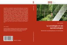 Capa do livro de La sociologie et ses épistémologies