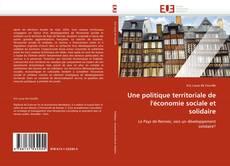 Copertina di Une politique territoriale de l''économie sociale et solidaire