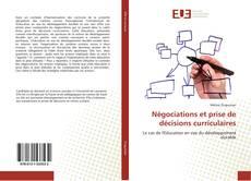 Buchcover von Négociations et prise de décisions curriculaires