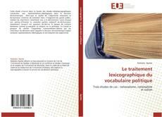 Обложка Le traitement lexicographique du vocabulaire politique