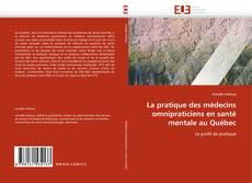 Capa do livro de La pratique des médecins omnipraticiens en santé mentale au Québec