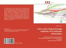 Couverture de Liens entre l'apprentissage implicite et la mémoire sémantique