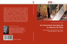 Buchcover von Un instrument d''analyse de la réforme de l''État