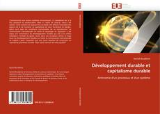 Portada del libro de Développement durable et capitalisme durable
