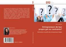 Entrepreneurs de leur propre gré ou contraints? kitap kapağı