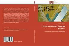 Portada del libro de Francis Ponge et Georges Braque: