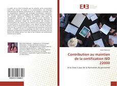 Portada del libro de Contribution au maintien de la certification ISO 22000