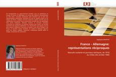 Capa do livro de France - Allemagne: représentations réciproques