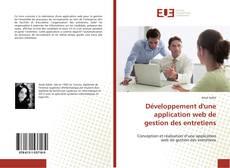 Capa do livro de Développement d'une application web de gestion des entretiens
