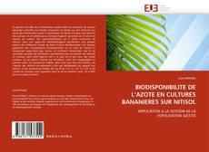 Buchcover von BIODISPONIBILITE DE L''AZOTE EN CULTURES BANANIERES SUR NITISOL