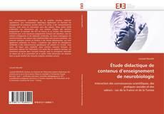 Couverture de Étude didactique de contenus d'enseignement de neurobiologie