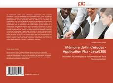 Обложка Mémoire de fin d'études - Application Flex - Java/J2EE