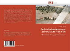 Buchcover von Projet de developpement communautaire en Haiti