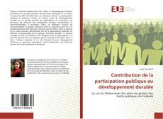Bookcover of Contribution de la participation publique au développement durable