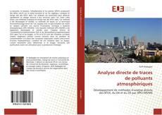 Bookcover of Analyse directe de traces de polluants atmosphériques