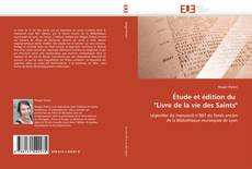 """Обложка Étude et édition du   """"Livre de la vie des Saints"""""""