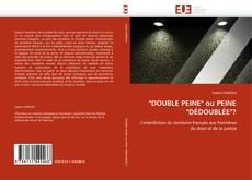 """Buchcover von """"DOUBLE PEINE"""" ou PEINE """"DÉDOUBLÉE""""?"""
