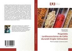 Bookcover of Propriétés cardiovasculaires de Celtis durandii Engler (Ulmacées)