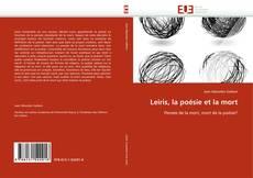 Buchcover von Leiris, la poésie et la mort