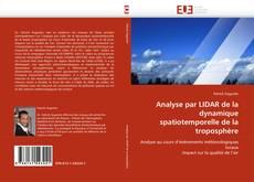 Copertina di Analyse par LIDAR de la dynamique spatiotemporelle de la troposphère