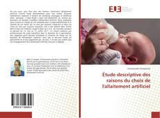 Couverture de Étude descriptive des raisons du choix de l'allaitement artificiel