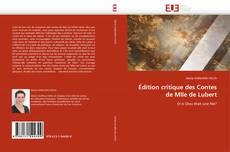 Обложка Édition critique des Contes de Mlle de Lubert
