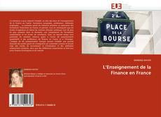 Couverture de L''Enseignement de la Finance en France