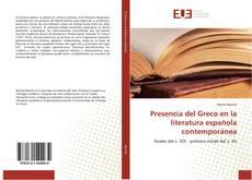 Presencia del Greco en la literatura española contemporánea kitap kapağı