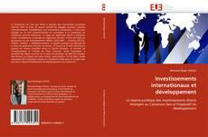 Couverture de Investissements internationaux et développement