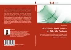 Portada del libro de Interactions entre critères en Aide à la Décision