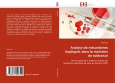 Bookcover of Analyse de mécanismes impliqués dans le maintien de tolérance