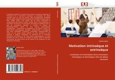 Motivation intrinsèque et extrinsèque kitap kapağı