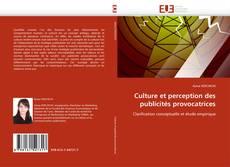 Portada del libro de Culture et perception des publicités provocatrices
