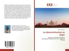 Couverture de La décentralisation au Niger