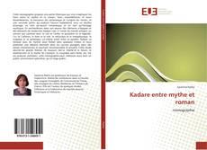 Capa do livro de Kadare entre mythe et roman