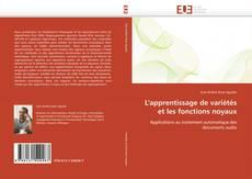 Buchcover von L'apprentissage de variétés et les fonctions noyaux