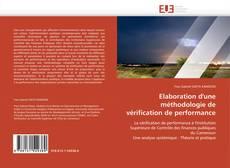 Buchcover von Elaboration d'une méthodologie de vérification de performance